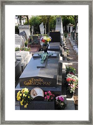 Edith Piaf Gravesite At Pere Lachaise Paris Framed Print
