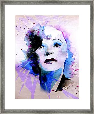 Edith Piaf Framed Print by Steven Ponsford