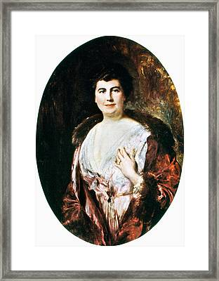Edith Wilson (1872-1961) Framed Print