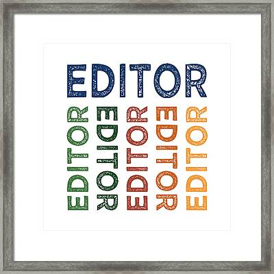 Editor Cute Colorful Framed Print by Flo Karp
