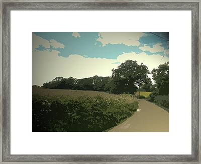 Edlaston Lane, Looking Towards Edlaston Hall From A Road Framed Print by Litz Collection
