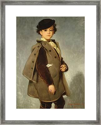 Edmond Dehodencq Wearing An Inverness Cape Framed Print by Alfred Dehodencq