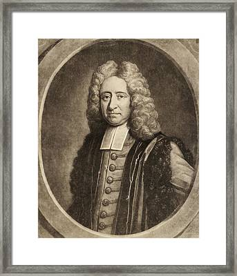 Edmond Halley Framed Print by Gregory Tobias/chemical Heritage Foundation