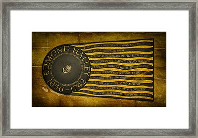Edmond Halley Memorial Framed Print