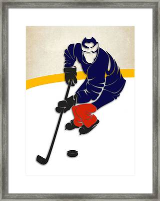 Edmonton Oilers Rink Framed Print by Joe Hamilton