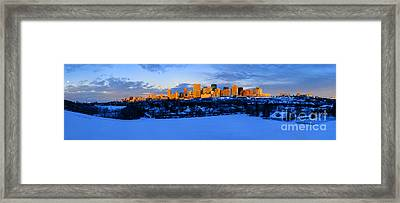 Edmonton Winter Skyline Panorama 1 Framed Print