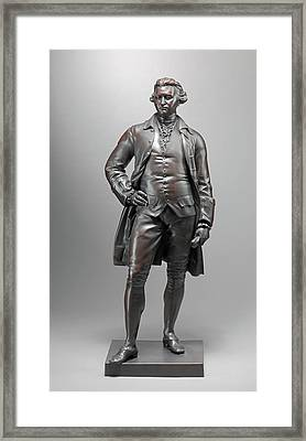 Edmund Burke Chiselled On Side Of Base, Proper Left Framed Print by Litz Collection