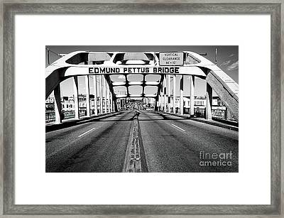 Edmund Pettus Bridge Framed Print
