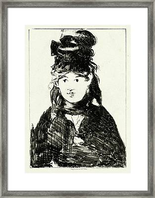 Edouard Manet French, 1832 - 1883, Berthe Morisot Framed Print by Quint Lox