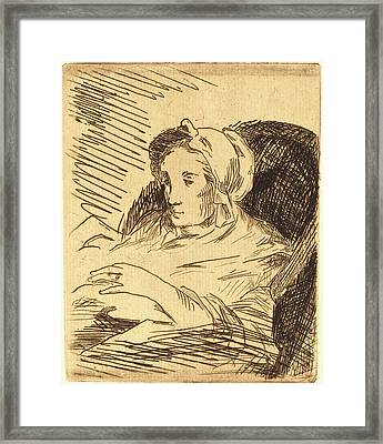 Edouard Manet, French 1832-1883, The Convalescent La Framed Print