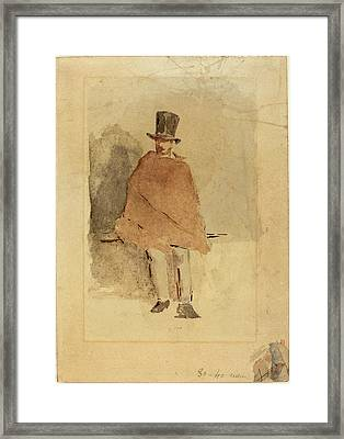 Edouard Manet French, 1832 - 1883, The Man In The Tall Hat Framed Print