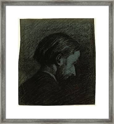 Edouard Vuillard French, 1868 - 1940, Head Of A Bearded Man Framed Print by Quint Lox