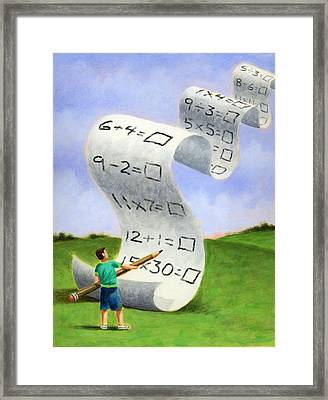 Education And Testing Framed Print by Steve Dininno
