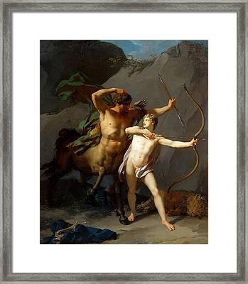 Education Of Achilles Framed Print