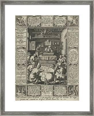 Education Of Children, Hendrick Goltzius Framed Print by Hendrick Goltzius