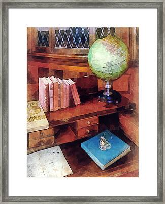 Education - Professor's Office Framed Print by Susan Savad