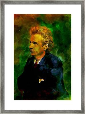 Edvard Grieg Framed Print by Kai Saarto