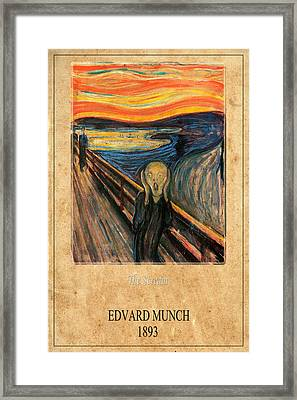 Edvard Munch 1 Framed Print by Andrew Fare