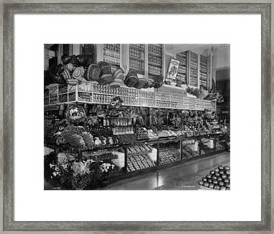 Edw. Neumann, Broadway Market, Detroit, Michigan, C.1905-15 Bw Photo Framed Print