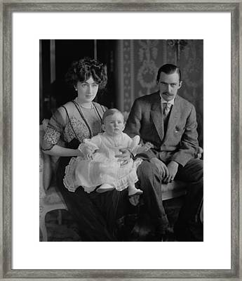 Edward And Evalyn Walsh Mclean Framed Print