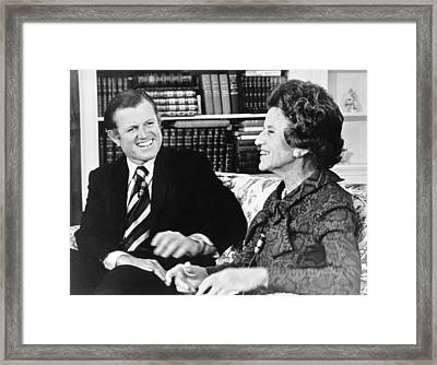 Edward And Rose Kennedy Framed Print by Underwood Archives