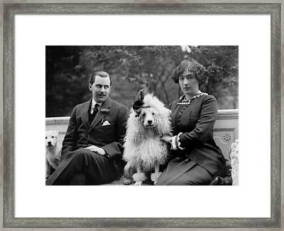 Edward Beale Mclean And His Wife Framed Print