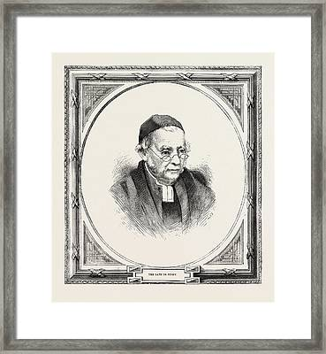 Edward Bouverie Pusey 22 August 1800 - 16 September 1882 Framed Print by English School