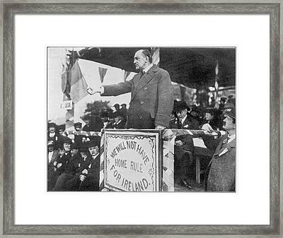 Edward Carson, Leader Of The  Irish Framed Print by Mary Evans Picture Library