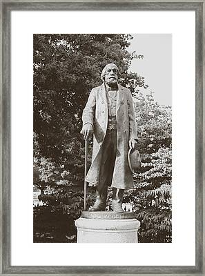 Framed Print featuring the photograph Edward Everett Horton by Boris Mordukhayev