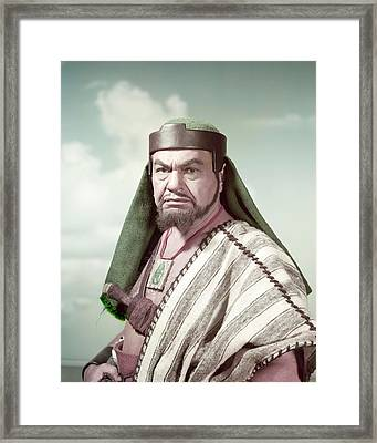 Edward G. Robinson In The Ten Commandments  Framed Print