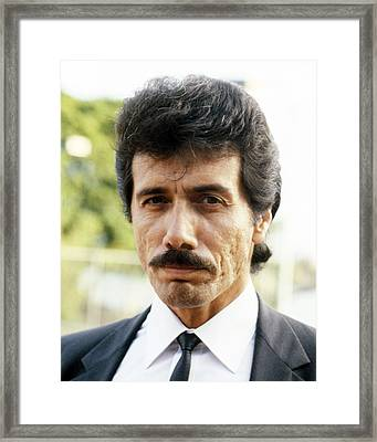 Edward James Olmos In Miami Vice  Framed Print by Silver Screen