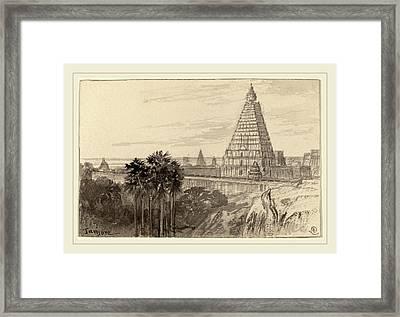 Edward Lear, Tanjore, British, 1812-1888 Framed Print