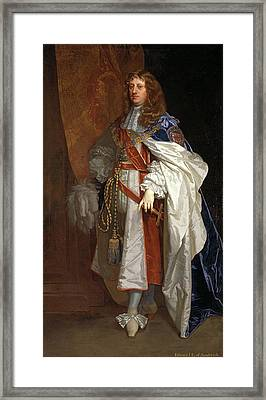 Edward Montagu, 1st Earl Of Sandwich Inscribed Framed Print by Litz Collection