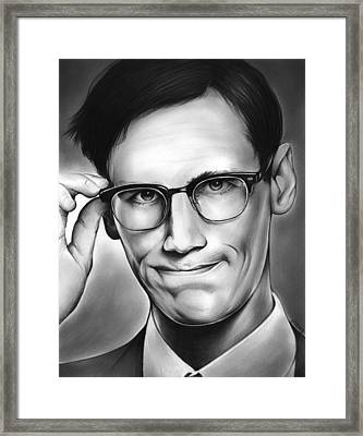 Edward Nygma Framed Print by Greg Joens