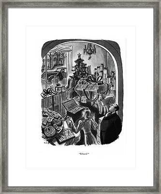 Edward! Framed Print