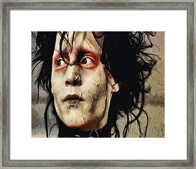 Edward Scissorhands  Framed Print by Joe Misrasi