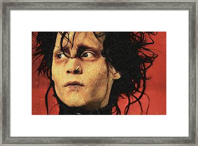 Edward Scissorhands Framed Print by Taylan Apukovska