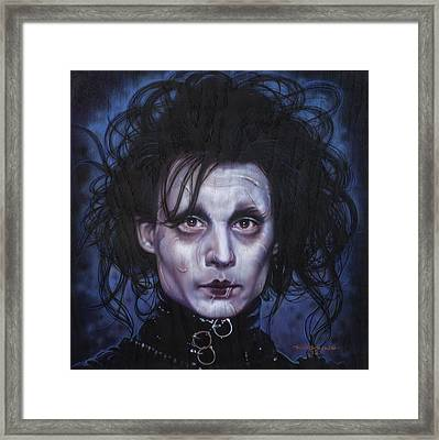 Edward Scissorhands Framed Print by Tim  Scoggins