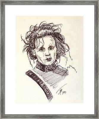 Edward Sissorhands Framed Print