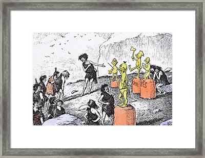 Edward Tennyson Reed 1860 1933 Prehistoric Peep Framed Print