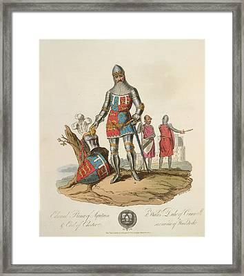 Edward The Black Prince Framed Print