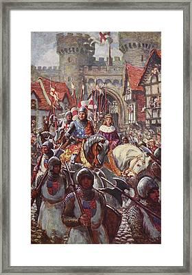 Edward V Rides Into London With Duke Framed Print