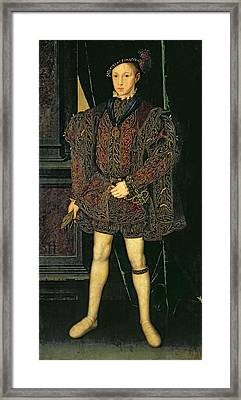 Edward Vi 1537-53 Framed Print by Guillaume Scrots