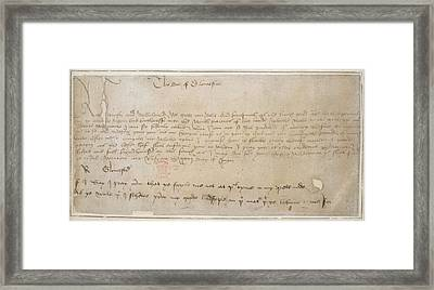 Edward Vith's Proclamation Framed Print by British Library