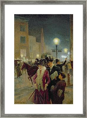 Edwardian London Framed Print by Eugene Joseph McSwiney
