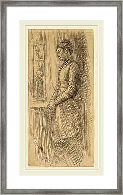 Edwin Austin Abbey, Solitude Miss Vesta Rollinstall Framed Print