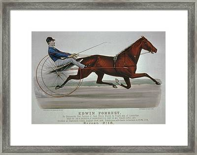 Edwin Forrest 1878  Poster Reproduction  Framed Print by Lesa Fine