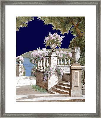 La Balaustra Di Notte Framed Print by Guido Borelli