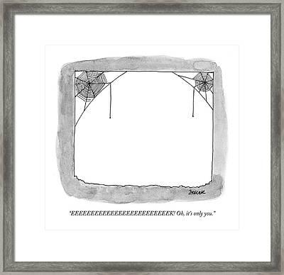 Eeeeeeeeeeeeeeeeeeeeeeeeek! Oh Framed Print by Jack Ziegler