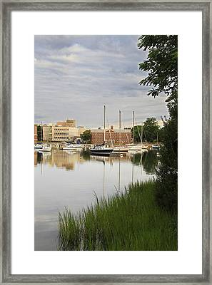 Eel Pond At Dawn Framed Print